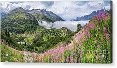 Idyllic Alpine Panorama Acrylic Print