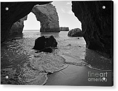 Idyllic Cave In Monochrome Acrylic Print