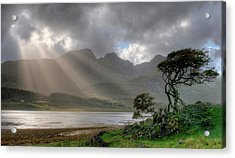 Acrylic Print featuring the photograph Nature Landscape Isle Of Sky Scotland by Michalakis Ppalis