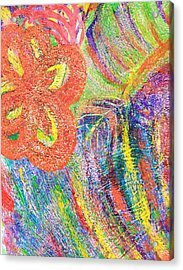 If Colors Were Sounds  Acrylic Print by Anne-Elizabeth Whiteway