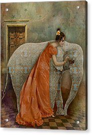 If Elephants Were Painted Acrylic Print
