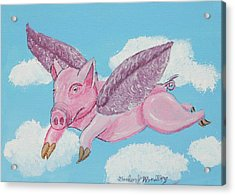 If Pigs Could Fly Acrylic Print by Gordon Wendling