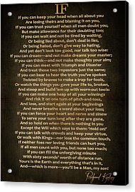 If Poem Vintage Canvas Acrylic Print by Dan Sproul