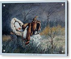 If Saddles Could Talk Acrylic Print by Bob Hallmark