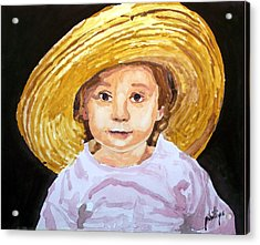 Acrylic Print featuring the painting If The Hat Fits... by Jim Phillips