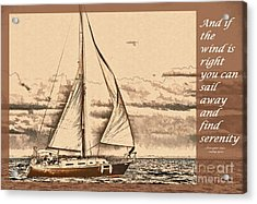 If The Wind Is Right Acrylic Print