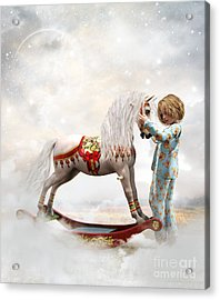 Acrylic Print featuring the digital art If We Believe by Shanina Conway