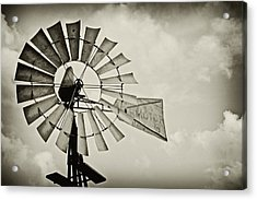 If Windmills Could Talk Acrylic Print by Tony Grider