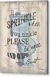 If You Sprinkle Acrylic Print by Debbie DeWitt