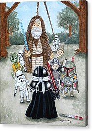If You Strike Me Down I Shall Reward You With Candy Acrylic Print by Al  Molina