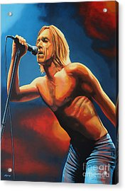 Iggy Pop Painting Acrylic Print by Paul Meijering