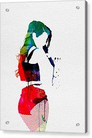 Iggy Watercolor Acrylic Print