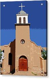 Iglesia San Jose 1922 Acrylic Print by David Lee Thompson