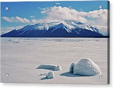 Igloo On Atlin Lake - Bc Acrylic Print by Juergen Weiss