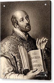 Ignatius Loyola Acrylic Print by English School