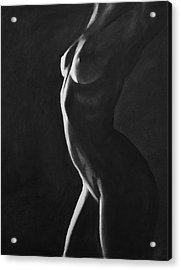 Ignite - Charcoal Acrylic Print by Blue Muse Fine Art