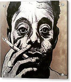 James Baldwin Acrylic Print by Russell Boyle