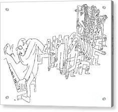 Igor Stravinsky (1882-1971) Acrylic Print by Granger