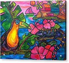 Iguana Eco Tour Acrylic Print by Patti Schermerhorn