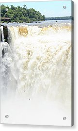 Acrylic Print featuring the photograph Iguazu Falls by Silvia Bruno