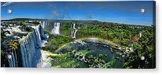Iguazu Panorama Acrylic Print by David Gleeson