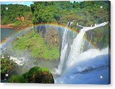 Iguazu Rainbow Acrylic Print