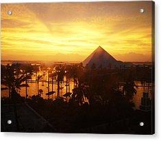 Ike Sunset Acrylic Print