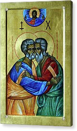 Acrylic Print featuring the photograph Ikon Sts. Peter And Andrew by John Schneider