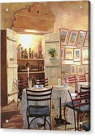 Il Caffe Dell'armadio Acrylic Print by Guido Borelli