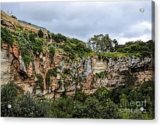Il Maqluba, Qrendi On A Cloudy Day Acrylic Print by Stephan Grixti