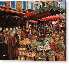 Il Mercato Di Quartiere Acrylic Print by Guido Borelli