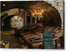 Il Mercato Francese Acrylic Print by Guido Borelli