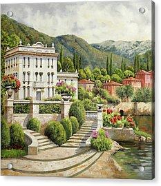 Il Palazzo Sul Lago Acrylic Print by Guido Borelli
