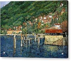 il porto di Bellano Acrylic Print