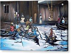 Ilaje Obalende Makoko Acrylic Print by Olaoluwa Smith
