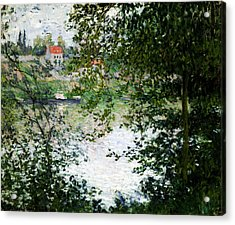 Ile De La Grande Jatte Through The Trees Acrylic Print