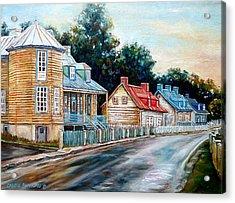 Ile D'orleans Quebec Street Scene Acrylic Print by Carole Spandau