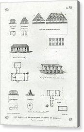 Iles Mariannes Architecture Ancienne Et Moderne Acrylic Print