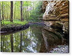 Illinois Canyon In Springstarved Rock State Park Acrylic Print