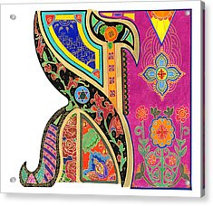 Illuminated Aleph Acrylic Print