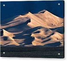 Illuminated Sand Dunes Acrylic Print by Alana Thrower
