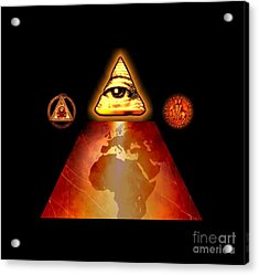 Illuminati World By Pierre Blanchard Acrylic Print