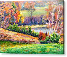 Acrylic Print featuring the painting Illuminating Colors Of Fall by Lee Nixon