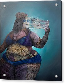 Acrylic Print featuring the painting Illusion by Obie Platon