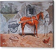 Illusion Of Presence Acrylic Print by Ramaz Razmadze