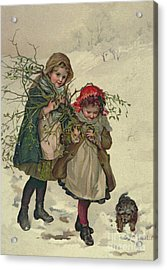 Illustration From Christmas Tree Fairy Acrylic Print by Lizzie Mack