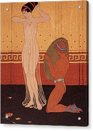 Illustration From Les Chansons De Bilitis Acrylic Print by Georges Barbier