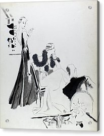 Illustration Of Women Wearing Evening Dresses Acrylic Print