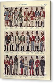 Illustrations Of Military Uniforms Acrylic Print