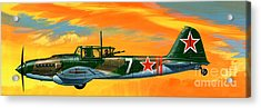 Ilyushin II 2m3 Russian Ground Attack Aircraft Acrylic Print by Wilf Hardy